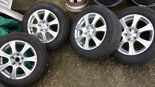Komplet Alufelgi z oponami RC Design 6,5Jx16 H2 Opony Michelin Alpin