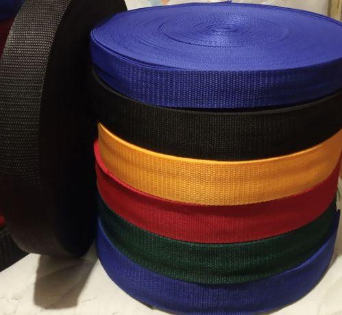 Ременная лента стропа сумочная поводковая тесьма окантовочная 2см-5см