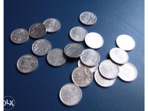 Moeda 10 centavos alumínio de 1971 a 1976