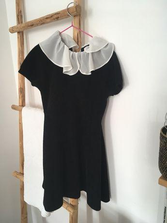 Śliczna sukienka szenilowa zara 128 święta