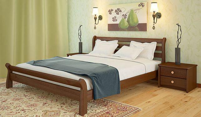 Кровать из цельного массива дерева. Ольха. Качественная сборка. Кра