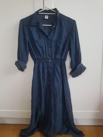 Jeansowa szmizjerka sukienka hm mama rozm.36 ciąża