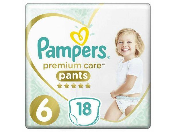 Подгузники-трусики Pampers Premium Care pants размер 6 (15+ кг) 18 шт