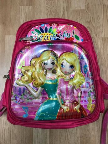 Рюкзак школьный Барби для девочки розовый