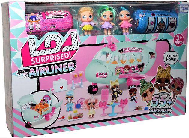 Большой самолет с куклами ЛОЛ LOL сюрприз 2 капсулы, 3 куклы