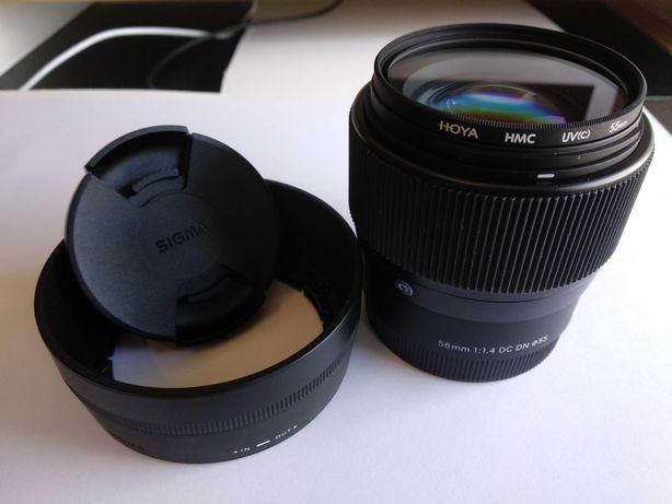 Lente Sigma 56mm F1.4 DC DN C Sony e-mount APS-C