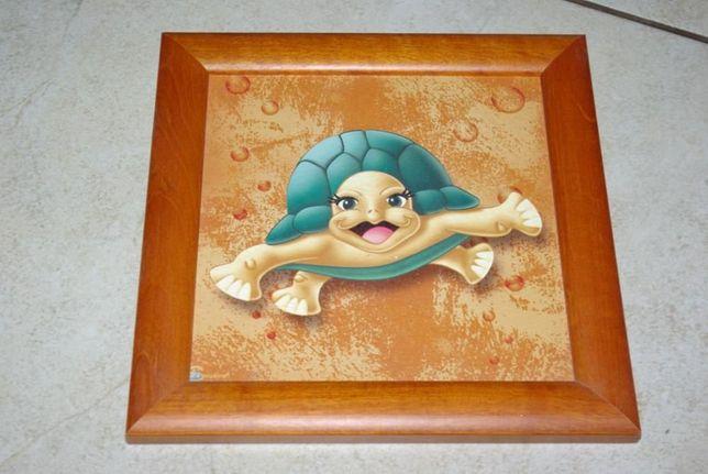 Obrazek Żółw 19,5x19,5 cm na ścianę