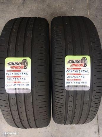 2 pneus semi novos continental 215/55/17 - Entrega grátis