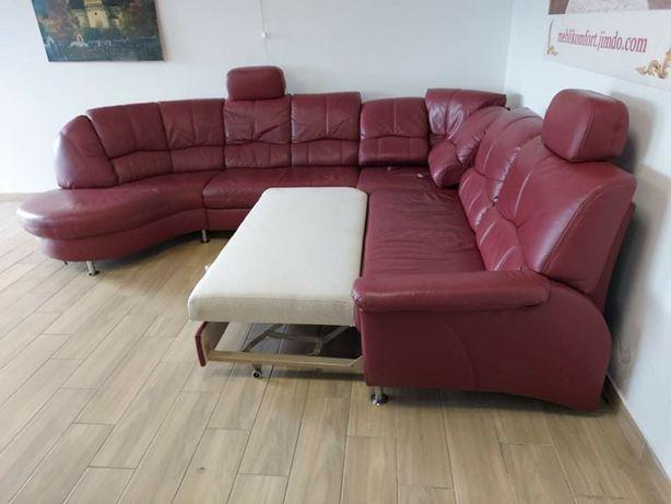 Расскладной диван кожаный