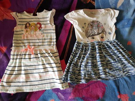 Zestaw dwóch sukienek rozmiar 116 bawełna