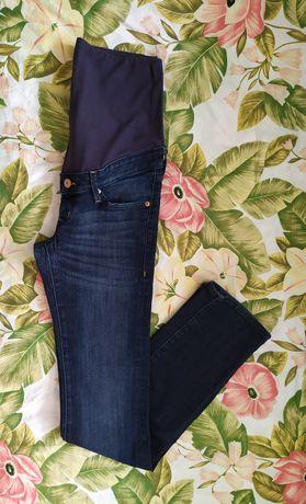 Spodnie ciążowe H&M mama S jeansy dżinsy 36 ubrania odzież