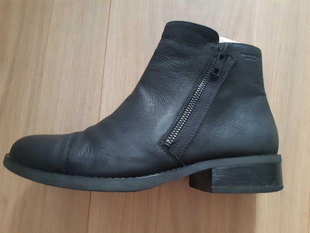 Botki ze skóry VAGABOND typu ankle boots, rozm. 38