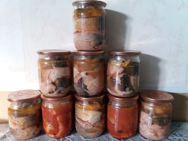 Рыбные консервы из толстолобика