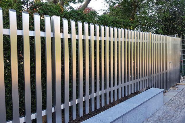 Ogrodzenia bramy tarasy stal czarna i nierdzewna.