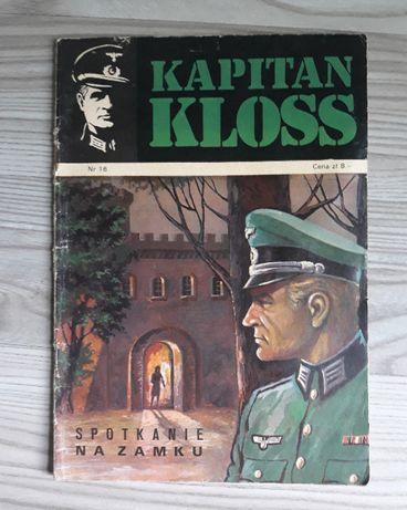 Komiks Kapitan Kloss pierwsze I wydanie 1973 Spotkanie na zamku nr 16