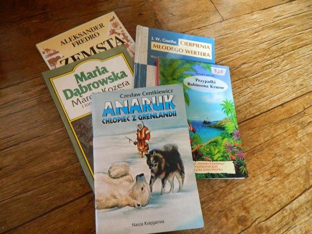 Ksiązki lektury szkola nauka czytanie opracowanie opowiadania