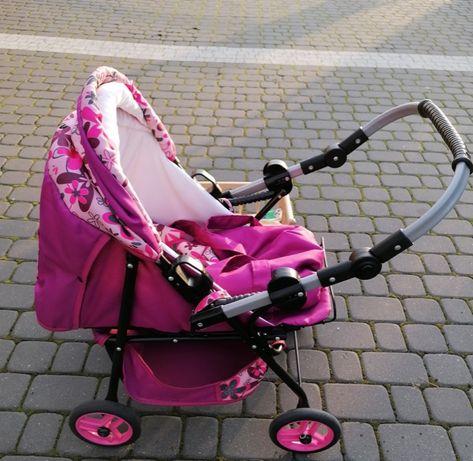 Zestaw - wózek z łóżeczkiem dla lalek