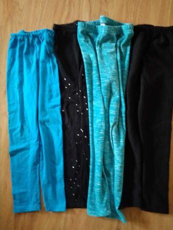 Spodnie bawełniane i ocieplane 4szt. r. 134