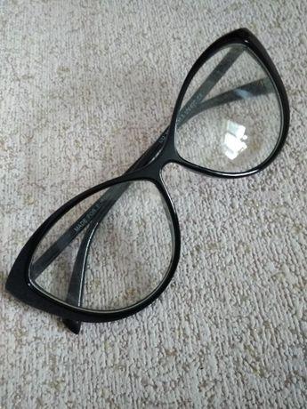 очки прозрачные форма кошачий глаз без диоптрий окуляри