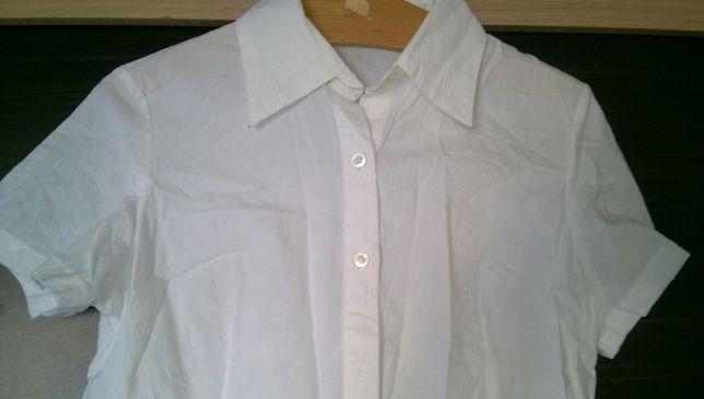 Nowa Koszula biała, S-M, krótki rękaw