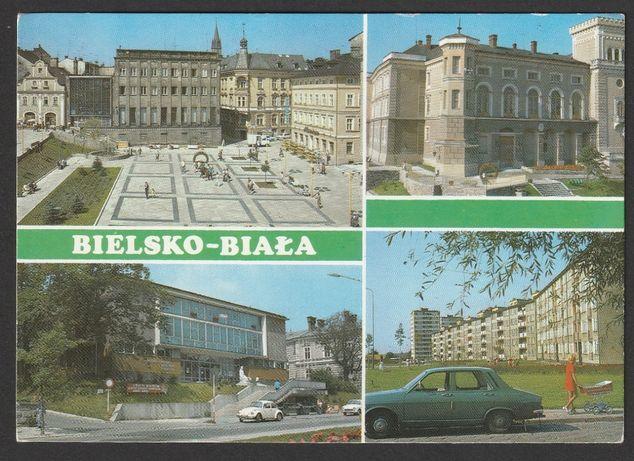 pocztówka - Bielsko-Biała 1979 - plac Chrobrego - ulica Słowackiego