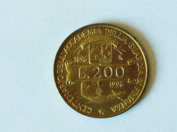 Oferuję Monetę Włochy200lirów z 1996 w stanie dobrym