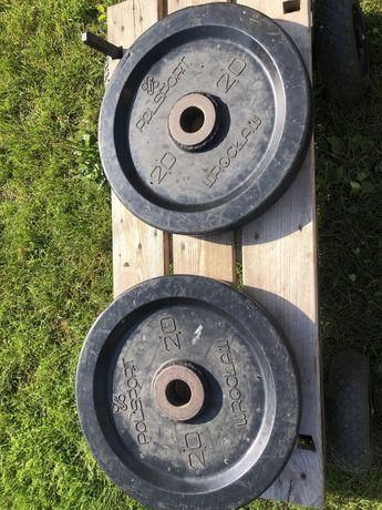 Obciazenie Olimpijskie Ogumowane 2x 20 kg Polsport Wroclaw