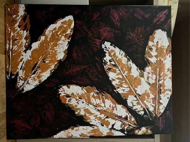 quadro  folhas, 50 por 40