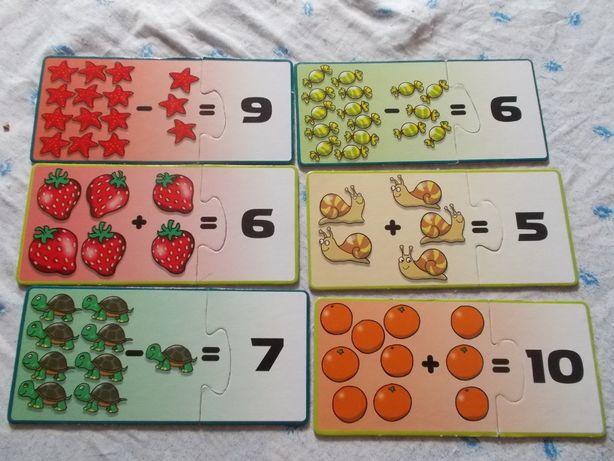 Puzzle de 2 peças com números