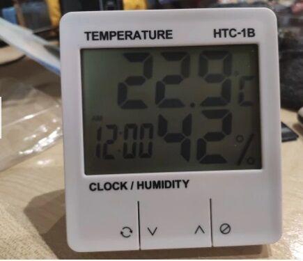 Термометр, измеритель температуры и влажности HTC-1B метеостанция часы