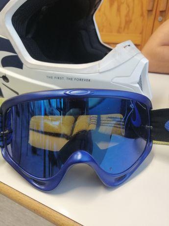 Óculos de motocross, oakley circuit azul/amarelo