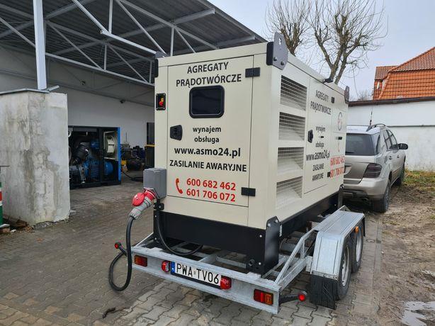 Agregaty prądotwórcze/generatory/ 25-125kVa/ Wynajem/ Obsługa