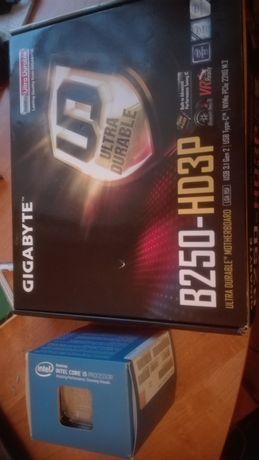 Płyta główna Gigabyte +procesor I3 6 gen