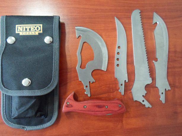 Zestaw noży militarnych biwak survival bushcraft tasak piła