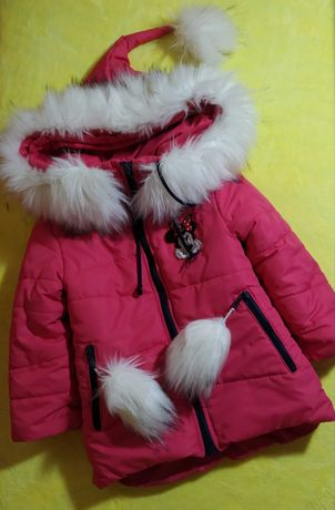 Зимняя куртка для девочки Детская одежда 2-4 года