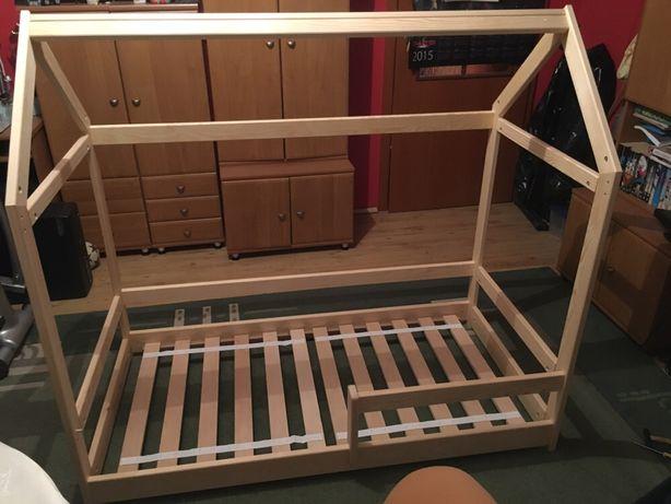 Łóżko domek sosna 140 dla dzieci