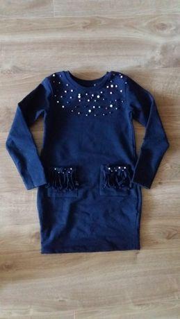 Темно-синее платье Breeze с бусинами, классное!Турция