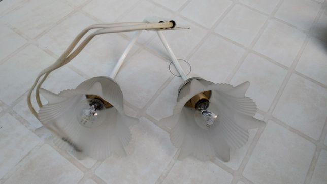 Candeeiro adaptação espelhos quarto de banho