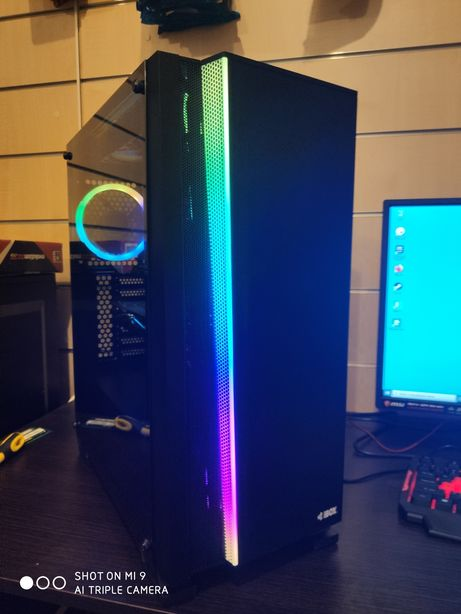 i7 LED Komputer do gier, 8 GB, GTX 1060, 500 GB, Win 10, Open Office