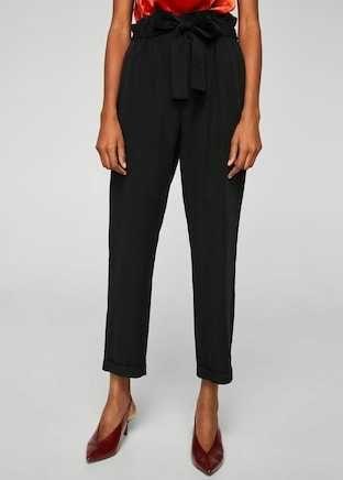 MANGO spodnie z wiązaniem zara M 2021