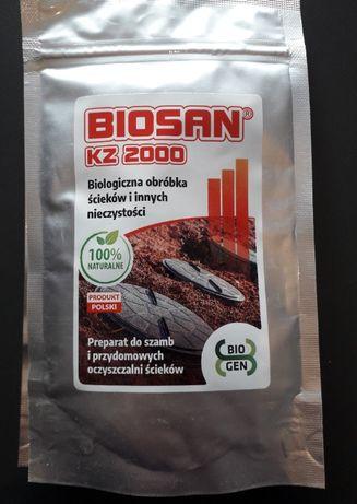 Biopreparat BIOSAN KZ 2000 szamba, zbiorniki z gnojówką bakterie 100g