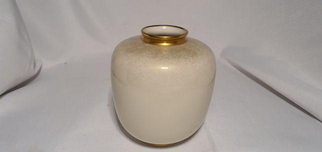 Śliczny wazon Rosenthala, ecru, złocenia, lata czterdzieste