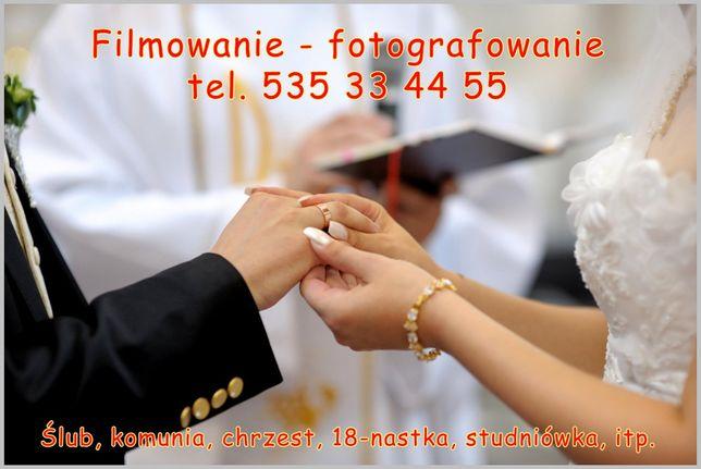 Filmowanie Fotograf Ślub i Wesele, wideofilmowanie fotografia ślubna