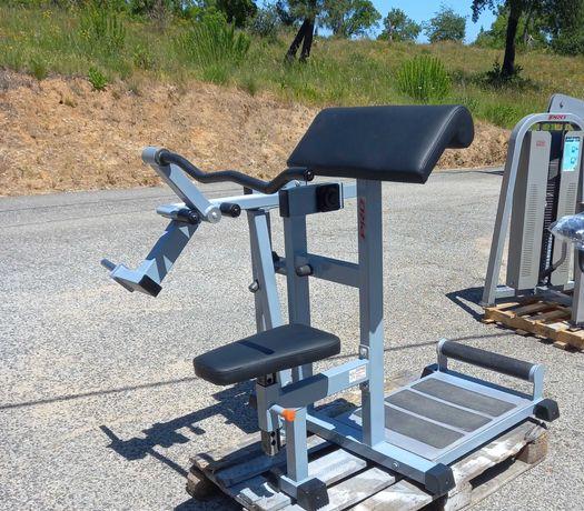 GYMAQ-maquina de biceps e triceps ADAN SPORT de discos (peso livre)