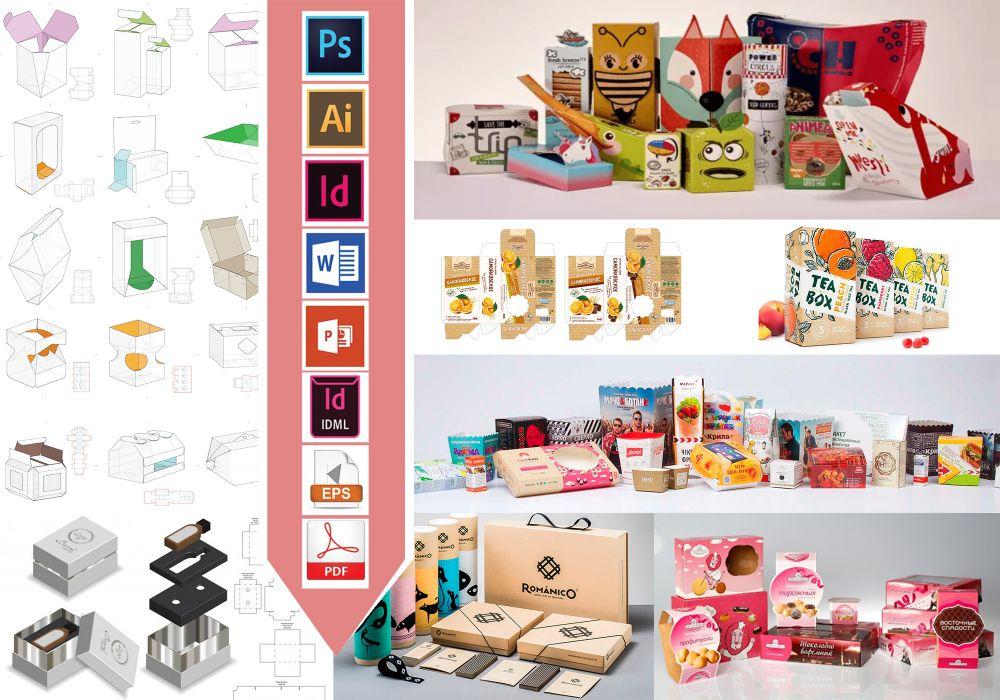 Projekty graficzne Opakowań, Etykiet, Pudełek, Naklejek i inne