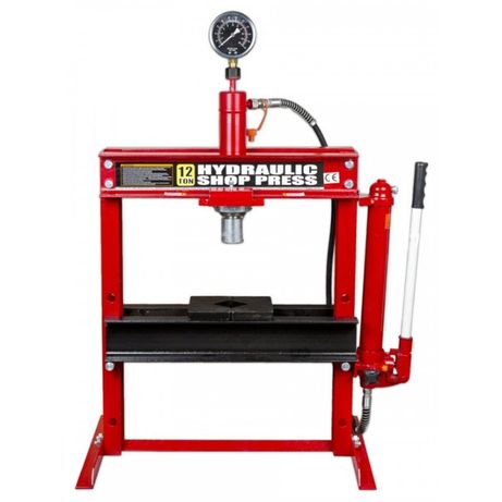 Prensa Hidráulica 12 Ton Fortex c/ Manómetro FTX12001 BIG RED
