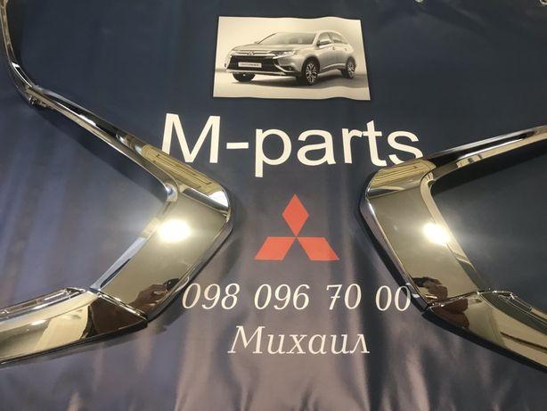 Продам хром накладки на бампер Mitsubishi Outlander 3