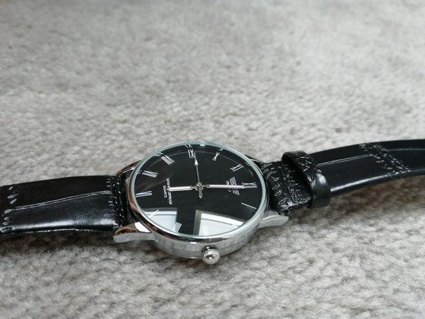 Nowy męski zegarek swidu czarny pasek skóra