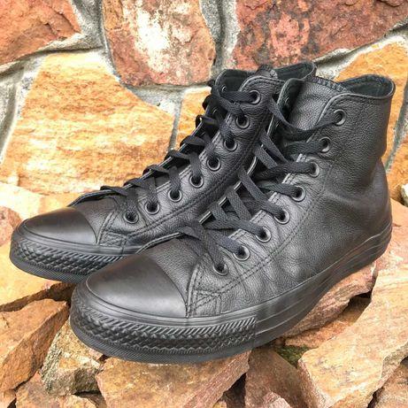 Кожаные кеды Converse (конверс) Chuck Taylor All Star черные