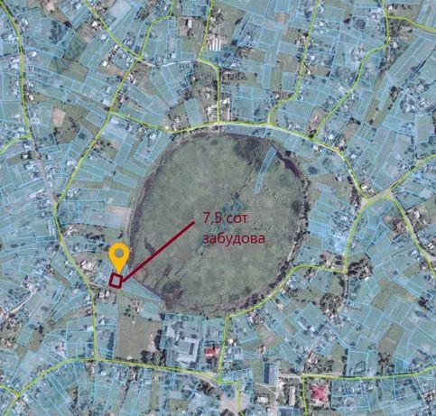 7.5 соток в центрі Дударкова, забудова, асфальт